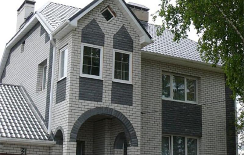 Фото домов с полторашного колотого кирпича фото 299-252